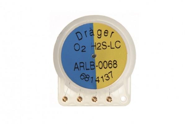 Dualer Dräger Sensor XXS H2S LC / O2 - 0-100 ppm H2S / 0-25 % O2