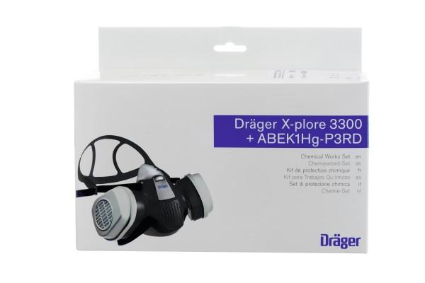 Dräger Set X-plore 3300 + ABEK1 Hg P3 R D (Chemiearbeiterset)