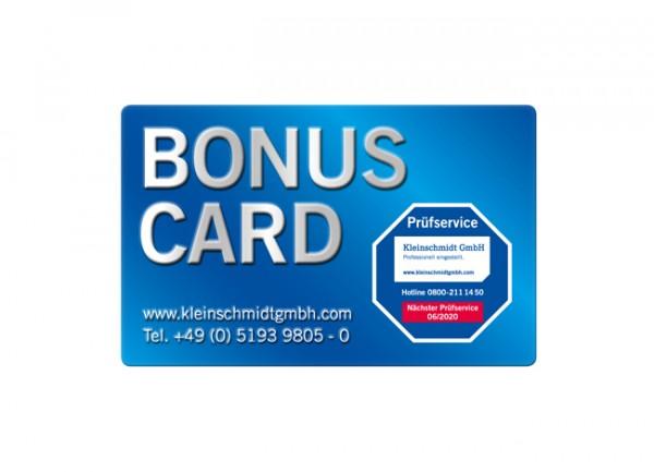 Bonus Card Abgasmessgerät 4 Jahre