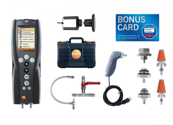 testo 324 Gas- und Wasser-Set Magnethalter BONUS CARD
