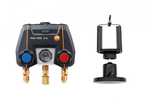 testo 550i + Magnet-Smartphonehalter