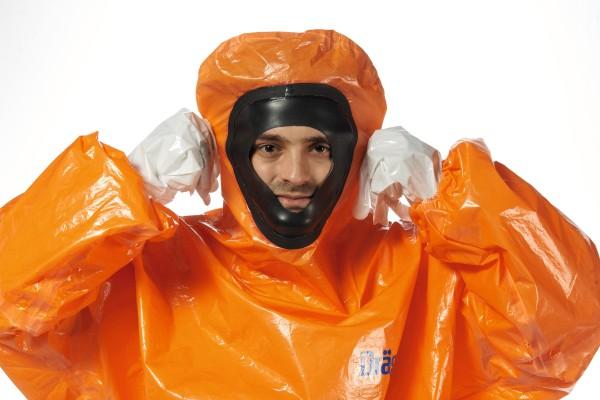 Dräger Spritzschutzanzug SPC 4800, Gr.S, orange (CLF)antistatisch