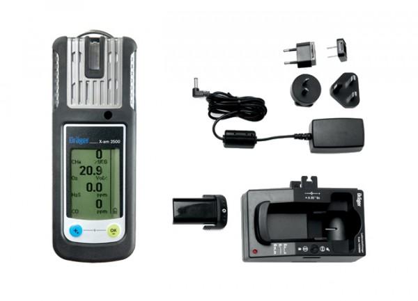 Dräger X-am 2500 EX, O2, CO, H2S-LC Set (inkl. Akku-/Ladetechnik Set) + BONUS CARD