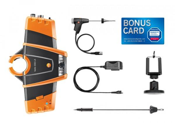 testo 330i Schornsteinfeger-Set Magnethalter BONUS CARD