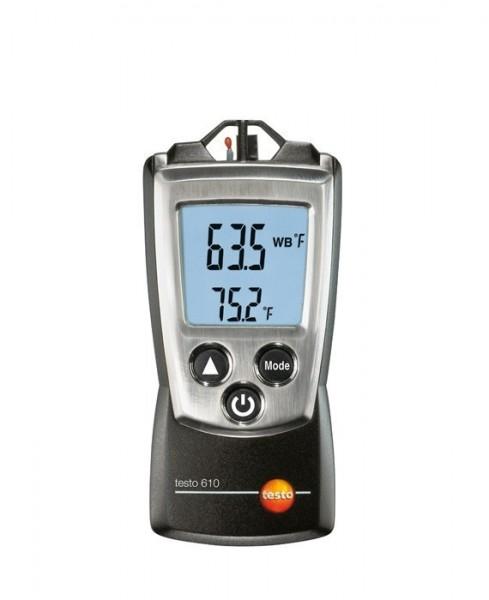 testo 610, handliches Feuchte- und Temperatur-Messgerät