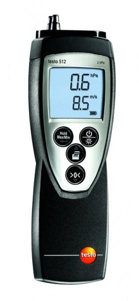 testo 512 - Druck- und Strömungsmessgerät 0...2 hPa