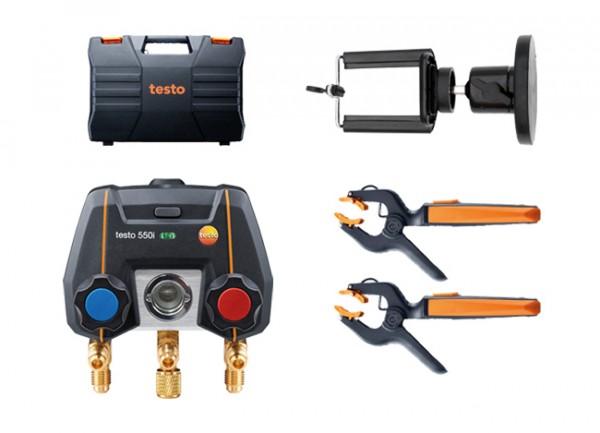 testo 550i Smart Set + Magnet-Smartphonehalter