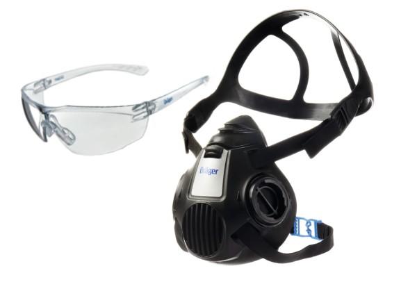 Dräger Halbmaske X-plore 3300 (M) + gratis Schutzbrille X-pect 8320