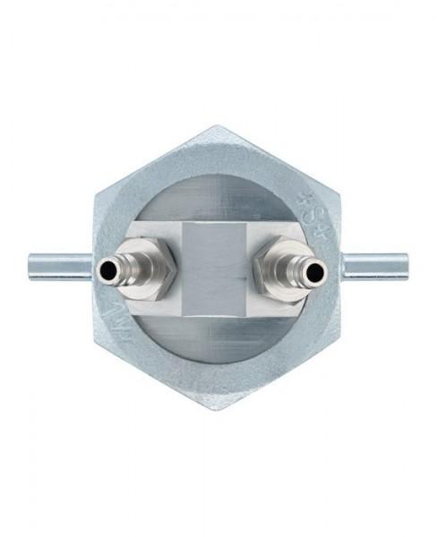 testo Einrohrzählerkappe, Verbindung von Prüfgarnitur zur Leitung