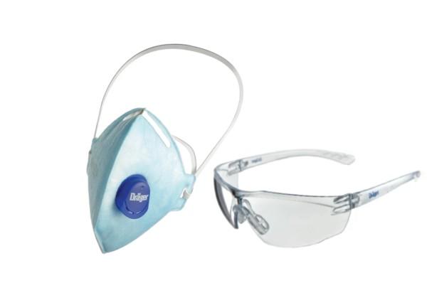 Dräger X-plore 1720 FFP2 V + gratis Schutzbrille X-pect 8320