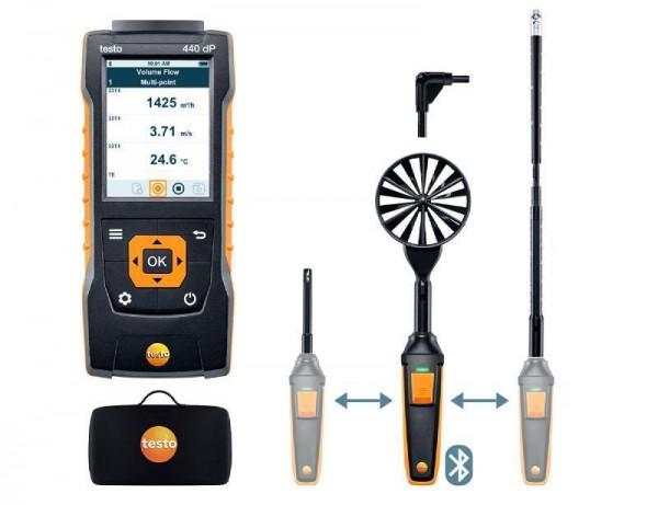 testo 440 delta P Strömungs-KombiSet 2 mit Bluetooth®