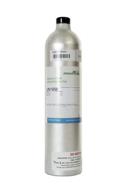 Prüfgas 110 l Flasche 2,5 % CH4 in synth. Luft