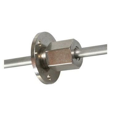 Montageflansch, Quetschverschraubung für Durchmesser Ø 3 mm (PE 458-3)