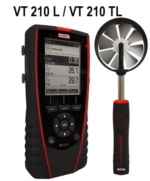 KIMO Anemometer-Hygrometer-Thermometer - VT 210 TL