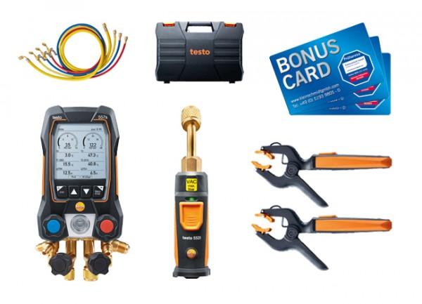 testo 557s Smart Vakuum Set mit Füllschläuchen + BONUS CARDs