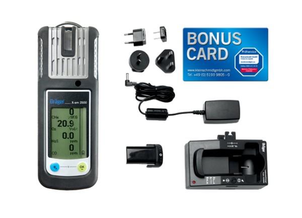 Dräger X-am 2500 EX, O2, CO, H2S-LC Set + BONUS CARD