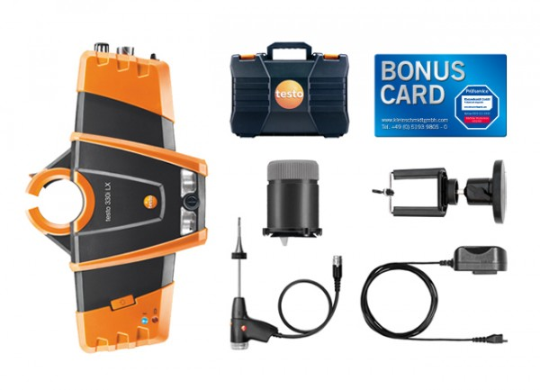 testo 330i Heizungsbau-Set Magnethalter BONUS CARD