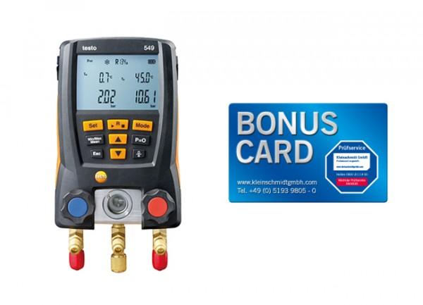 testo 549 - Digitale Monteurhilfe BONUS CARD