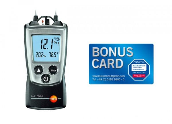 testo 606-2 Holz- und Materialfeuchte-Messgerät + BONUS CARD