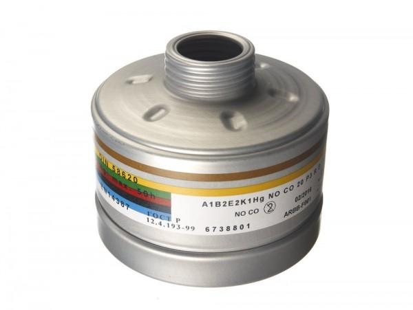 Dräger Kombifilter M45x3 A2B2E2K2Hg P3 R D