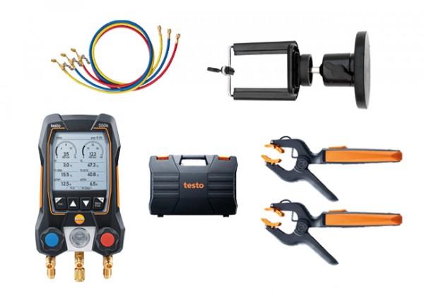 testo 550s Smart Set mit Füllschläuchen + Magnet-Smartphonehalter
