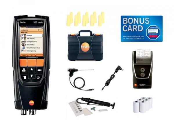 Set testo 320 basic Sonderedition Öl BONUS CARD