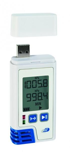 Dostmann LOG220 PDF-Datenlogger mit Display für Temperatur, Feuchte, Druck