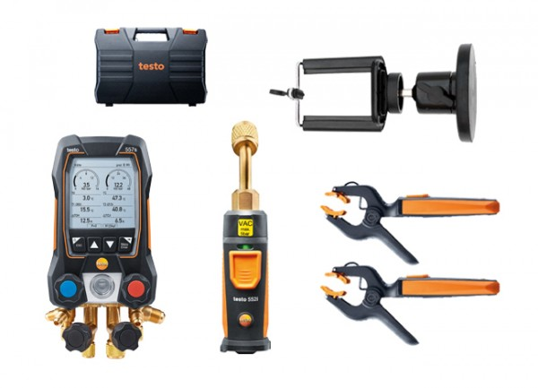 testo 557s Smart Vakuum Set + Magnet-Smartphonehalter