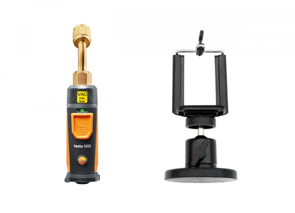 testo 552i + Magnet-Smartphonehalter