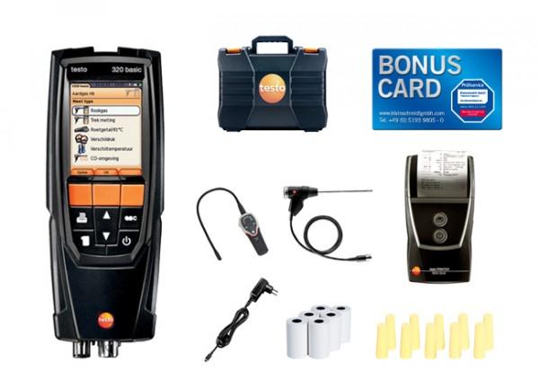 Set testo 320 basic Sonderedition Gas BONUS CARD