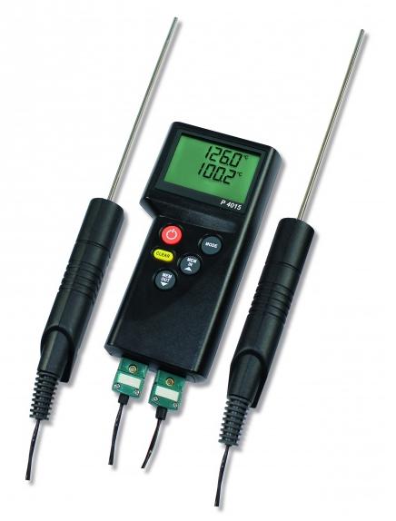 Dostmann P4015 Profi-Thermometer, 2-Kanal, Thermoelement Typ-K
