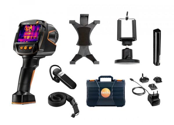 Wärmebildkamera testo 883 mit Kleinschmidt GmbH Smartphone- und Tablethalter