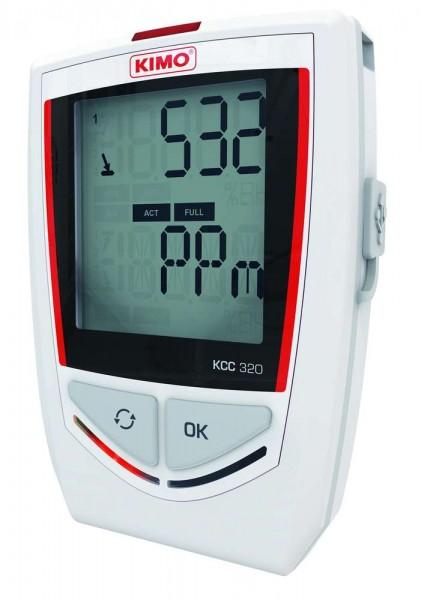 KIMO KCC-320 Datenlogger für Temperatur, Feuchte, Luftdruck, CO2