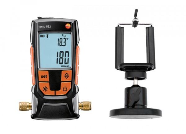 testo 552 - Vakuummessgerät mit Bluetooth inkl. Magnet-Smartphonehalter