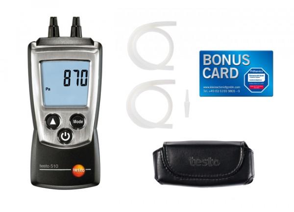 Druck Set testo 510 + BONUS CARD