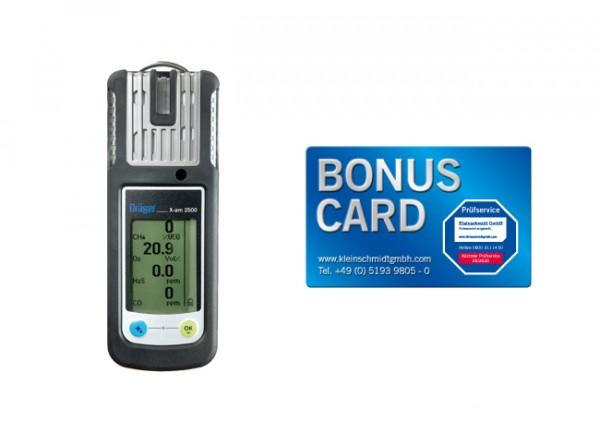 Dräger Mehrgasmessgerät X-am 2500 für EX, O2, CO, H2S-LC + BONUS CARD
