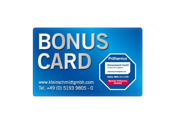 Bonus Card Druck